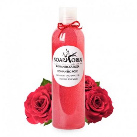 Romantická růže - organický sprchový gel