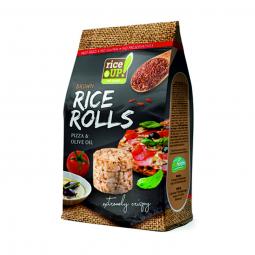 Rýžové minichlebíčky pizza, olivový olej 50 g Rice Up