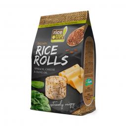 Rýžové minichlebíčky špenát, sýr, olivový olej 50 g Rice Up