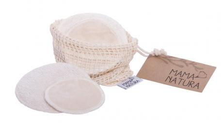 Sada kosmetických tamponu samet - mix (4 ks malý, 2 ks velký)