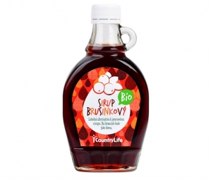 Brusinkový sirup 250 ml BIO