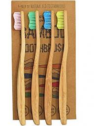 Bambusové zubní kartáčky Soft - balení 4 ks