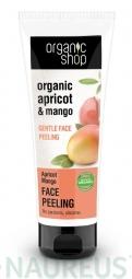 Organic Shop - Meruňka & Mango - Jemný peeling na obličej 75 ml