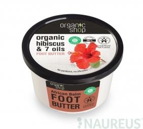Organic Shop - Máslo na nohy Ibišek a 7 olejů 250 ml