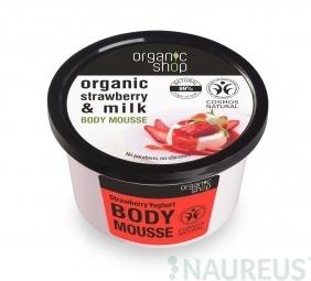 Organic Shop - Jahoda & Jogurt - Tělová pěna 250 ml
