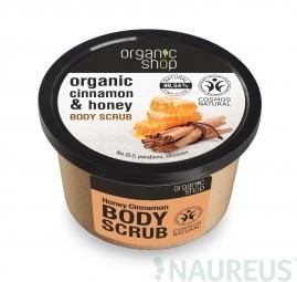 Organic Shop - Med & Skořice - Tělový peeling 250 ml