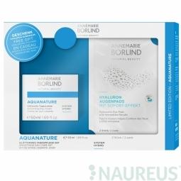 Aquanature System hydro – Vyhladzujúci hydratační denní krém + Hyalurónové obklady na oči 2ks grátis