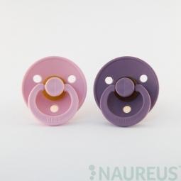 BIBS dudlíky z přírodního kaučuku 2 ks - velikost 1 - Baby Pink/Lavender