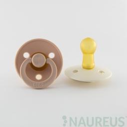 BIBS dudlíky z přírodního kaučuku 2 ks - velikost 2 - Blush/Ivory