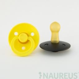 BIBS dudlíky z přírodního kaučuku 2 ks - velikost 2 - Pineapple/Black