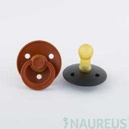 BIBS dudlíky z přírodního kaučuku 2 ks - velikost 2 - Rust/Black