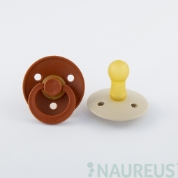 BIBS dudlíky z přírodního kaučuku 2 ks - velikost 1 - Rust/Vanilla