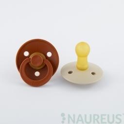BIBS dudlíky z přírodního kaučuku 2 ks - velikost 2 - Rust/Vanilla