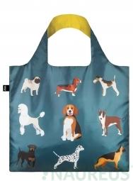 Nákupná taška LOQI Cats & Dogs - Woof