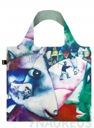 Nákupní taška LOQI Museum, Chagall - I and the Village