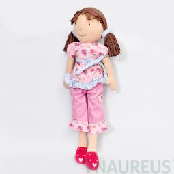 Látková panenka Whitney - růžová souprava 46 cm