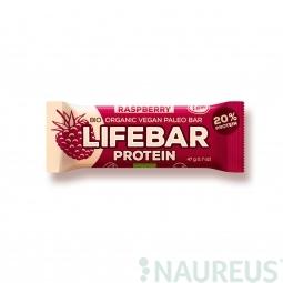 Lifebar protein malinová BIO 47 g Lifefood *