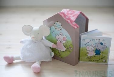 Dárkový set DELUXE knížka + hračka - myška Meiya
