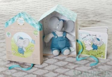 Dárkový set DELUXE knížka + hračka - slůne Alvin