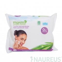Organické bavlněné make-up odstraňovače ubrousky 20ks MASMA