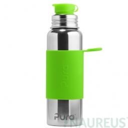 Pura® nerezová láhev se sportovním uzávěrem 850ml - Zelená
