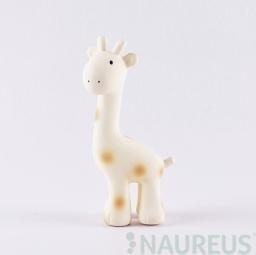 Chrastítko a kousátko z přírodní gumy - Žirafka