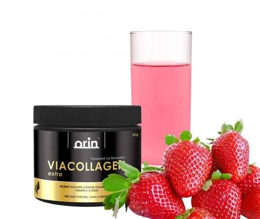 ViaCollagen extra s vitamínem C - JAHODA 187g