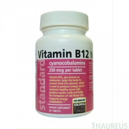 Vitamin B12 250 mcg, Melts, 60 Tablet