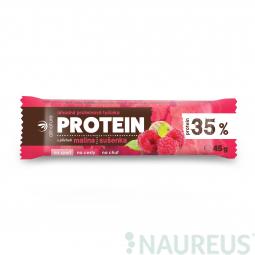 Allnature Proteinová tyčinka 35% malina a sušenka 45 g
