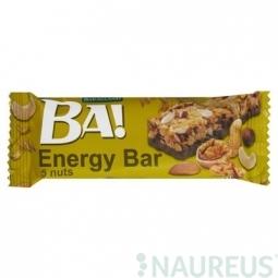 Cereální tyčinka BA! s ořechy a kakaovou polevou