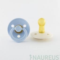 BIBS dudlíky z přírodního kaučuku 2 ks - velikost 1 - Baby Blue/Ivory