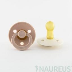 BIBS dudlíky z přírodního kaučuku 2 ks - velikost 1 - Blush/Ivory
