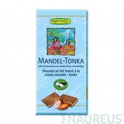 Čokoláda mléčná s náplní Mandle Tonka BIO 100 g Rapunzel*