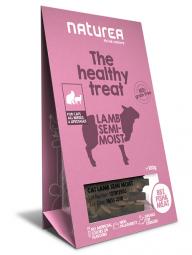 Doplněk výživy Naturea Treat - Jehněčí kousky pro kočky, 100g