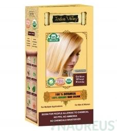 100% Rostlinná, 100% Organická barva na vlasy Zlatá blond