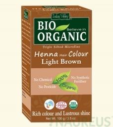 Henna barva na vlasy Světlehnědá
