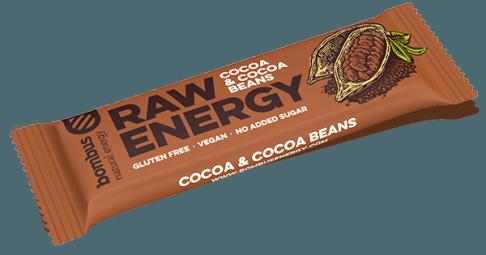 Tyčinka Bombus RAW ENERGY kakaové boby 50g
