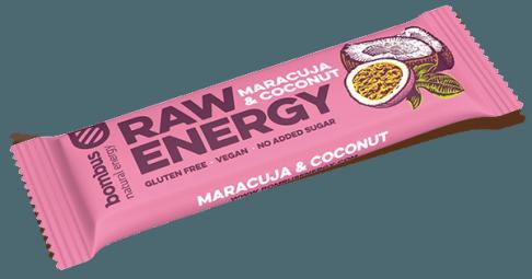 Tyčinka Bombus RAW ENERGY porosty maracuji-kokos 50g