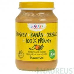 Příkrm broskev, banán, cereálie 190 g BIO