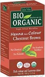 Henna barva na vlasy Kaštanovohnědá