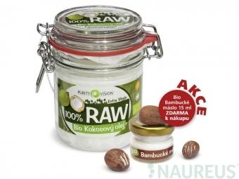RAW kokosový olej 300 ml + bambucké maslo 15 ml ZDARMA