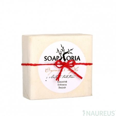 Organické mýdlo s vlastní tinkturou na ekzémy a dermatitidy