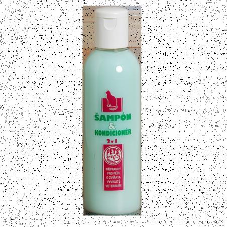 Šampon a kondicionér 2v1 pro kočku 200ml