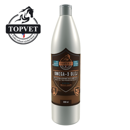 Omega-3 olej 1000ml - pro koně