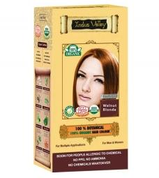100% Rostlinná, 100% Organická barva na vlasy Oříšková Blond