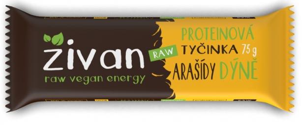 Proteinová tyčinka Živan - Arašídy a dýně