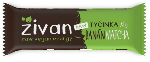 Tyčinka Živan - Banán a matcha