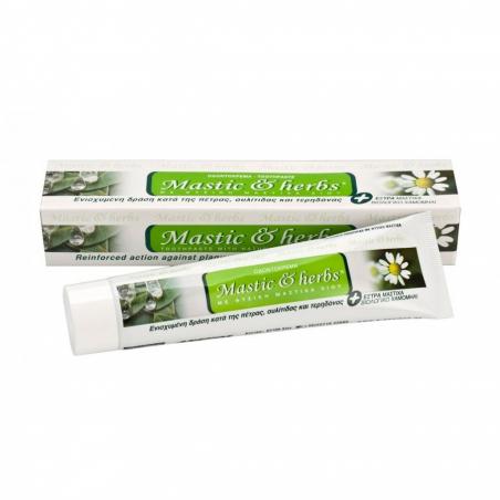 Zubní pasta s mastichový olejem a heřmánkem