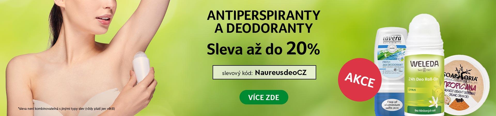 20% Sleva na všechny deodoranty a antirespiranty  do 03.06.2020 + Doprava zadarmo s Liptavia a Ecohead