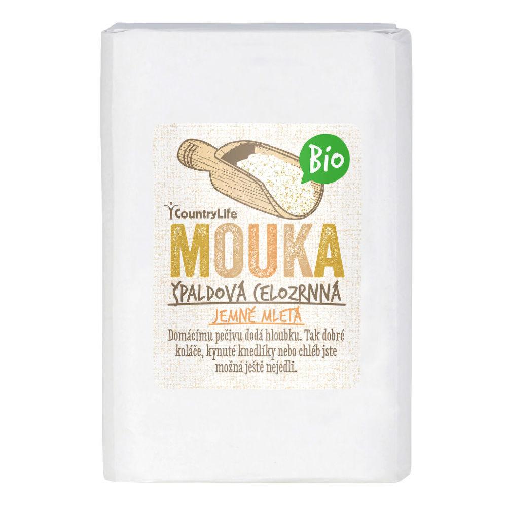 Country Life Mouka špaldová celozrnná jemně mletá BIO 1 kg 1 kg